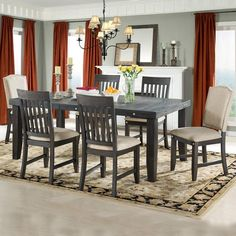 Marseille 7 Piece Dining Set | Weekends Only Furniture and Mattress