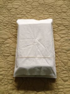 How to fold sheet sets (including fitted) into a pillowcase