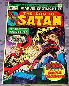 Marvel Spotlight 24 w/Son Of Satan October 1974 from Marvel Comics: $4.99 (0 Bids) End Date: Sunday Apr-15-2018 11:28:43 PDT Bid now | Add… Mephisto, Satan, Spotlight, Marvel Comics, October, Sunday, Signs, Patterns, Comics