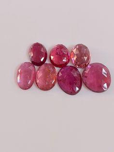 Natural Indicolite Tourmaline Rosecut 0.84 Carat 6x4 MM Oval Shape Rosecut Gemstone Pair