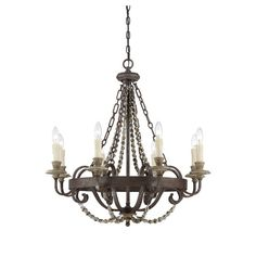 Savoy House Mallory 8 Light Candle Chandelier