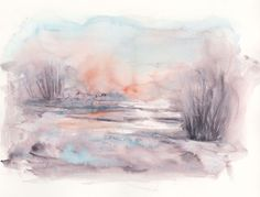 Buy December Dawn, Watercolours by Vandy Massey on Artfinder. Discover thousands…
