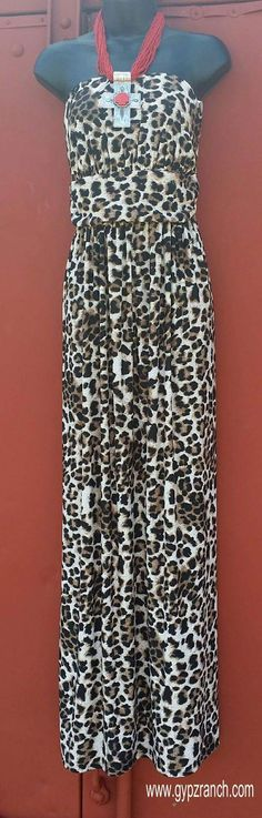 It's The Life Leopard Maxi Dress - Plus Size www.gypzranch.com