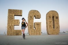 Laura Kimpton at the Ego Project~Burning Man 2012