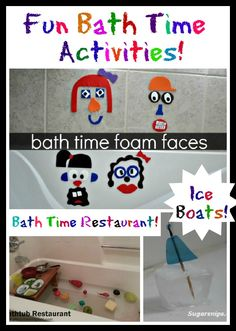 Fun ideas for Bath Time being featured on Tuesday Tots this week!
