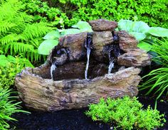 "40"" Log Fountain 