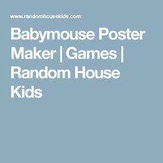 Babymouse Poster Maker | Games | Random House Kids