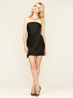 Rachel Zoe Emma Pleated Silk Panel Dress