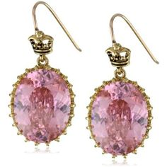Juicy couture pink oval drop earrings