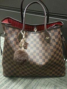 Added a cute mink fur purse charm to my Neverful Louis! .....cute huh?!