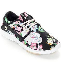 Etnies Women's Scout Black Floral Shoes