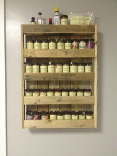 Spice rack made from pallets