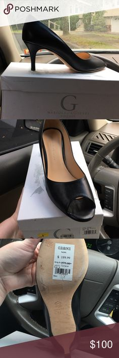 Marioluca giusti black open toe pump size 42 Brand new purchased from Bloomingdales for $189.99. Never used. Black leather open toe pump. 2 1/2 inch heel Marioluca Giusti Shoes Heels