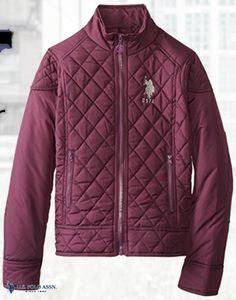 U.S. Polo Assn. Women's Poly Pongee Moto Jacket with Zip Cuffs