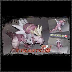 Pokemon - Tyrantrum Ver.2 Free Papercraft Download - http://www.papercraftsquare.com/pokemon-tyrantrum-ver-2-free-papercraft-download.html