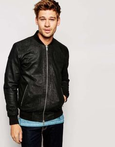 Barneys gripey leather biker jacket with quilted