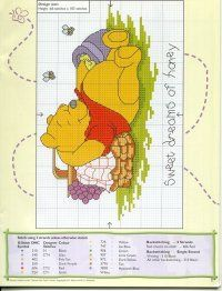 Embroidery Patterns Cross Stitch Winnie The Pooh 40 Ideas Disney Cross Stitch Patterns, Cross Stitch For Kids, Cross Stitch Baby, Cross Stitch Kits, Cross Stitch Charts, Cross Stitch Designs, Cross Stitching, Cross Stitch Embroidery, Embroidery Patterns