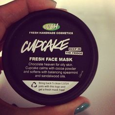 Lush cupcake face mask is going to make it look like you smeared poop on your face, but I swear its amazing for hormonal acne and the occasional flare up. When I worked at Lush, we sold out of these almost immediately.