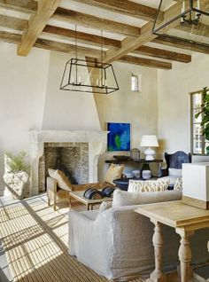 Modern interior design with reclaimed wood, barn house redesign and conversion projects. I love this living room.