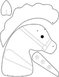 Sewing Hacks, Sewing Crafts, Sewing Projects, Felt Patterns, Sewing Patterns, Crafts To Sell, Diy And Crafts, Stick Horses, Horse Pattern