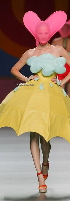 Ágatha Ruiz de la Prada SS 2012-13 - An Umbrella Dress under a Cloud full of Rain ツ
