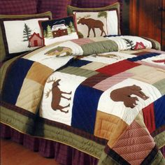 campy bedding | Cabin ideas | Pinterest | Rustic bedding and Cabin