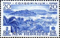 New Hebrides 1957 SG 87 English Fine Mint SG 87 Scott 85 Condition Fine MNH Only one post charge applied on multipule purchases Details N B With over
