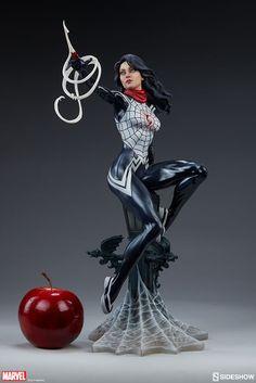 Silk Marvel Statue No principal universo da Marvel essa famosa aranha radioativa afundou suas presas na civilizada Cindy Moon momentos depois de morrer seu colega Peter Parker.Seu mundo mudou para sempre quando foi preso por seus novos poderes mas agora ela emergiu para salvar o mundo como Silk Marvel Statue. Spiderman