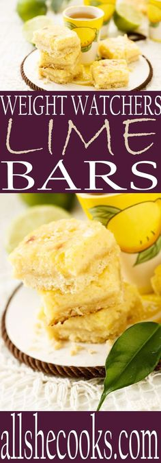Enjoy this lower fat lime bars recipe that will keep you on track with a Weight Watchers diet plan.