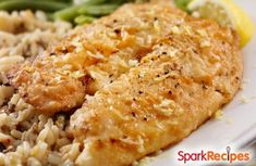Broiled Tilapia Parmesan Recipe via @SparkPeople