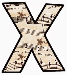 Clip Art designs all based on a vintage music score or sheet music as you may call it. Vintage Sheet Music, Vintage Sheets, Lettering Styles, Lettering Design, Make Your Own Card, Alphabet And Numbers, Alphabet Letters, Graffiti Alphabet, Elementary Music