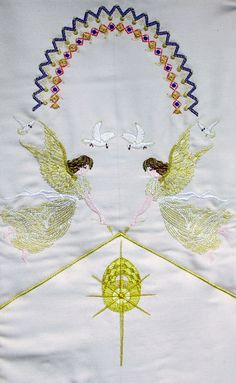 """Machine embroidery designs this design that is on the wall hanging is from the set """"Christmas 2011"""" you can see all the designs at http://www.stitchingart.com"""