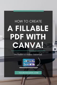 How to Create Fillable PDF Forms (with Video Tutorial) - YourChicGeek Web Design, Design Social, Graphic Design Tips, Design Blog, Inbound Marketing, Affiliate Marketing, Marketing Digital, Content Marketing, Marketing Tools