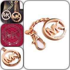 Rose Gold Michael Kors Keychain  Beautiful MK Keychain in Rose Gold. New with tags. Comes with box and MK bag. MICHAEL Michael Kors Accessories Key & Card Holders