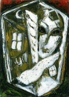 Maison VII (2004) : oil on canvas / huile sur toile / olio su tela, 33x25cm ©RobertoMangú #oil #painting #art #Mangu