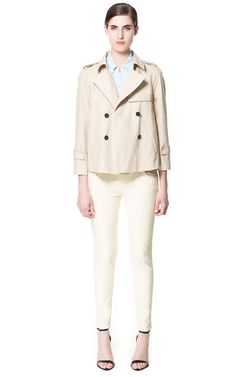 SHORT TRENCH COAT - Coats - Woman | ZARA Canada