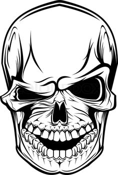 Stock vector of 'Danger skull as a warning or evil concept'