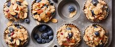 Freezer-Friendly Oatmeal Cups with Berries and Toasted Almonds Dinner Recipes Easy Quick, Recipes Dinner, Easy Recipes, Healthy Recipes, Oatmeal Cups, Plant Based Breakfast, Gluten, Plant Based Eating, Toasted Almonds