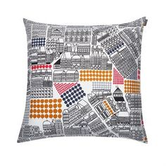 Puisto-osasto tyynynpäällinen 50x50 cm - monivärinen - Marimekko
