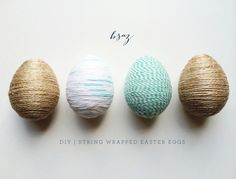 DIY | SIMPLE STRING WRAPPED EASTER EGGS