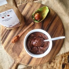 """In the """"yet to try"""" box, a recipe for Choc-banana 'mousse' from @mindfulfoodie"""