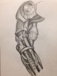 Cyborg sleeve tattoo #2