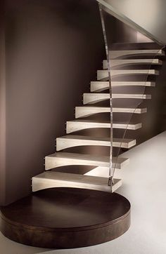 Modern Wood Stairs Design by Marretti