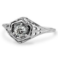 Antique Engagement Rings, Vintage Engagement Rings | Brilliant Earth   pretty!