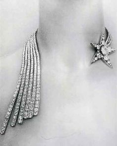 """wasbella102:    1932 Chanel Diamond Comet Necklace. From """"Jewelry by Chanel"""" by Mauries."""