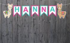 Llama Banner, Llama Decoration, Llama Party Supplies Rainbow Birthday, Rainbow Baby, Llama Birthday, Monster Truck Birthday, Rainbow Cupcakes, Favor Bags, Nursery Decor, Party Supplies, Card Stock