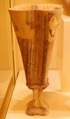 Zakros, 1500-1450 B.C., Heraklion Archaeological Museum, Crete, 2010 Historical Artifacts, Ancient Artifacts, Minoan Art, Mediterranean Art, Mycenaean, Greek Pottery, Heraklion, Greek Culture, Archaeological Finds