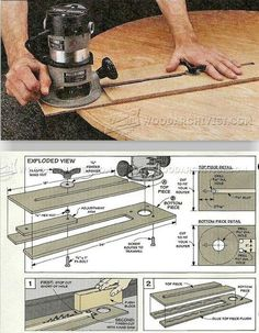 Router Circle Jig Plans - Router Tips, Jigs and Fixtures | WoodArchivist.com
