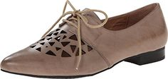 Miz Mooz Women's Lorena Taupe Oxford 36.5 (US Women's 6.5) B (M) *** More info could be found at the image url.