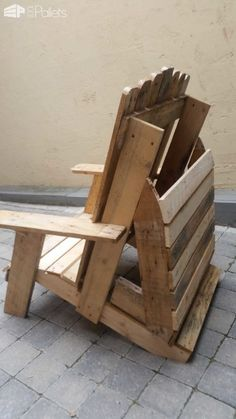 Pallet Adirondack Chair Lounges & Garden SetsPallet Benches, Pallet Chairs & Stools